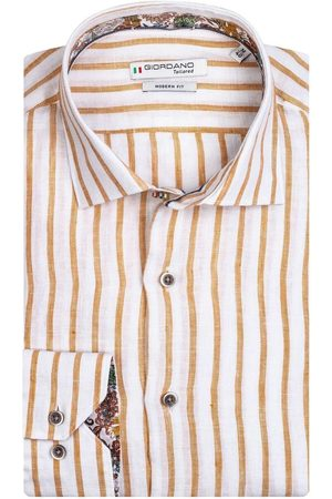 Giordano Heren Lange mouwen - Modern Fit Overhemd , Gestreept