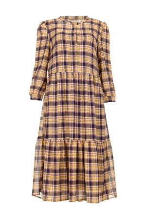 Lollys Laundry Dames Geprinte jurken - Geruite jurk met lurex Naja paars