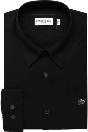 Lacoste Heren Lange mouwen - Slim Fit Overhemd , Effen