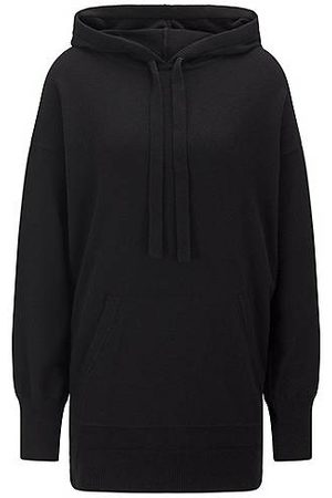 HUGO BOSS Dames Sweaters - Relaxed-fit hooded sweater in a wool blend