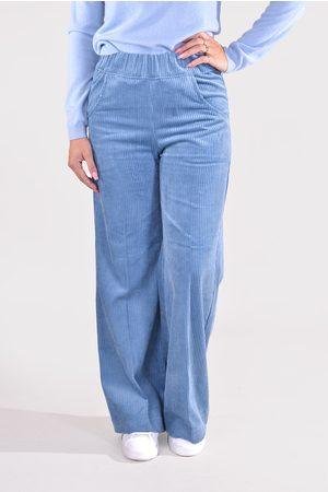 Sea Me Happy Dames Wijde broeken - Broek Woody Wide Rib jeansblauw