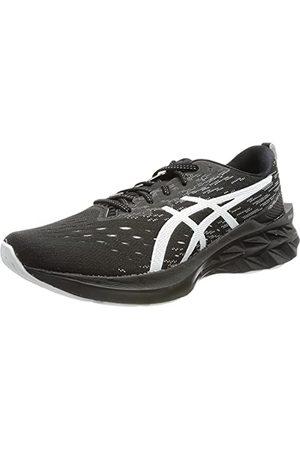 Asics Heren Novablast 2 Running Shoe, Black Pure Silver, 45 EU