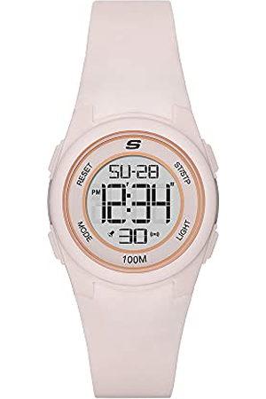 Skechers Dames digitaal, blush, siliconen horloge, SR2104