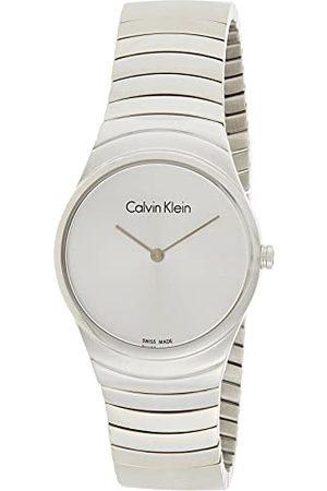 Calvin Klein K8A23146 Analoog kwartshorloge voor dames, met roestvrij stalen armband