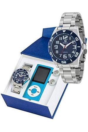 Marea Jongens analoog kwarts smartwatch polshorloge met roestvrij stalen armband B35283/4
