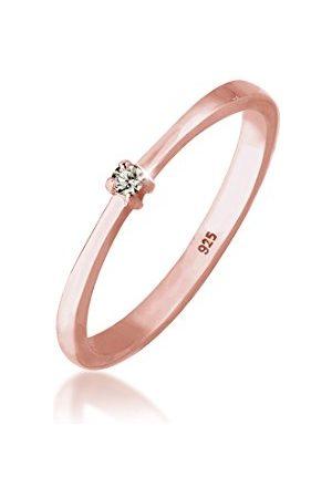 Elli Ringen Ringen 925 Sterling zilver Solitaire Zirkonium