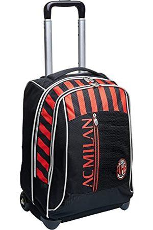 Seven Big Trolley Milan, Winners Club, rood en , rugzak voor school en reizen, met bijpassende voetbal