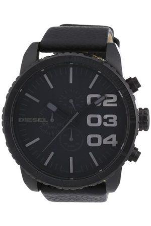 Diesel Chronograaf Quartz horloge met lederen band, , Armband