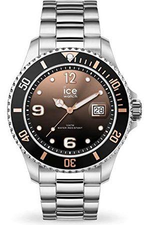 Bezoek het Ice-watch Ice-Watch - ICE steel Black sunset silver - dameshorloge met metalen armband - 016768 (Maat M)