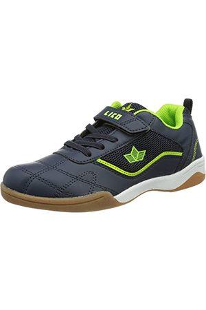 Lico Sloan VS Jongens Sneakers, Marineblauw/limoen, 28 EU