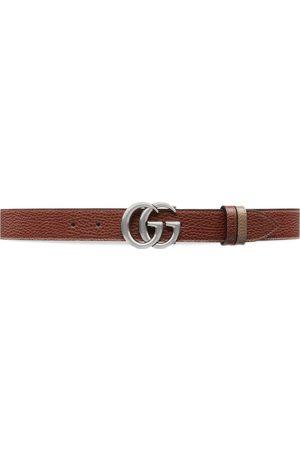 Gucci Heren Riemen - GG Marmont reversible thin belt