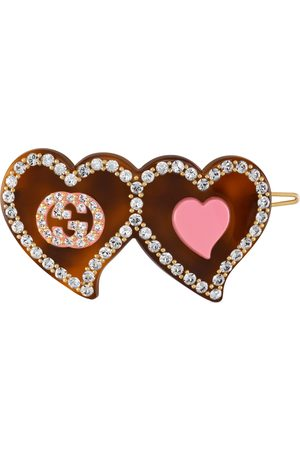 Gucci Haaraccessoires - Hair clip with GG and hearts