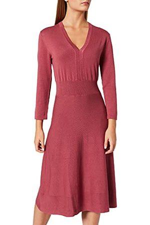 Noa Noa Dames Essential Viscose Knit Dress Lange Mouwen, Below Knee Casual Jurk