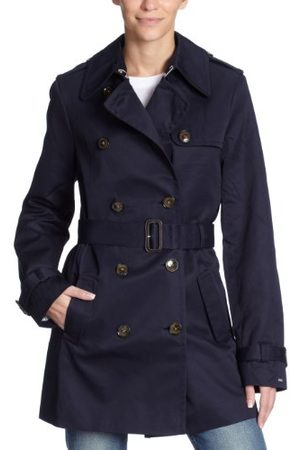 Tommy Hilfiger Dames Trench Coat 1M87602984 / Classic Short Trench, (midnight), 36