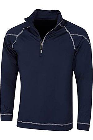 Island Green Mannen prestaties ademend Wicking Top Layer Shirt, Golf Shirt