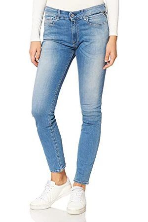 Replay New Luz, dames jeans skinny fit, regular taist, stijlvolle stretch jeans voor vrouwen, denim jeans, maten: 23-33