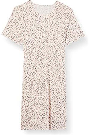 HUBER Dames slaapshirt korte mouwen nachthemd, Champagne Millefleur, 44