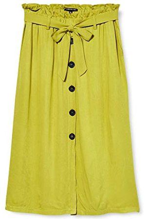 one more story One More Story Midi-rok voor dames, met riem, (Bright Lemon), 38