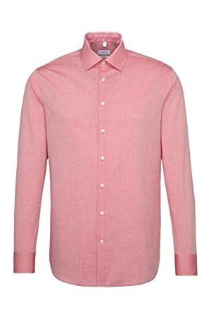 seidensticker Eenkleurig overhemd voor heren met extra draagcomfort en kentkraag, shaped fit, businesshemd met lange mouwen.