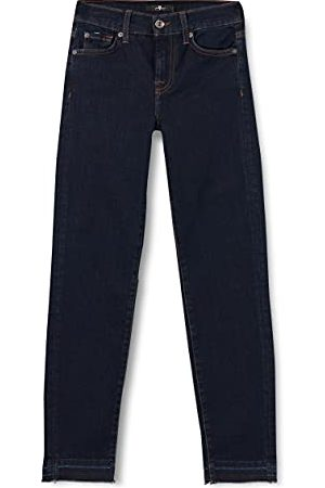 Seven for all Mankind Dames Mid Rise Roxanne Crop Unrolled Slim Jeans