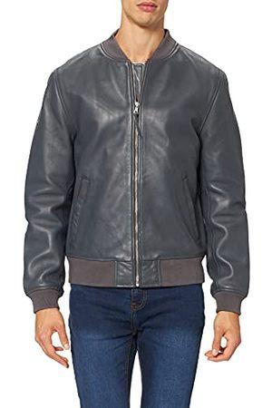 Superdry Heren Studio Flight Bomber Leather Jacket Jacket