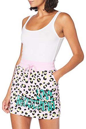 Moschino Love Dames Skirt_Allover Animalier Prints Rok, meerkleurig (P.leopard/ 0015), 44