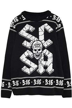 Popgear WWE Steenkoude Steve Austin Heren gebreide trui XL | Wrestlemania Kerstmis Jumper Ugly Idee Sweater Xmas Gift For Men