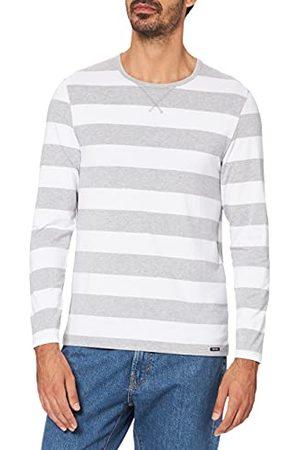 Skiny Every Night Overhemd voor heren, met lange mouwen, mix en match, modal, Stonegrey Stripe, M