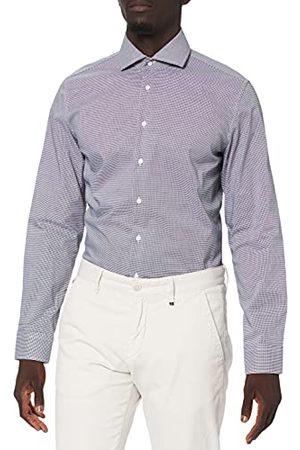 Seidensticker Zakelijk overhemd voor heren, geruit overhemd met hoog draagcomfort en Kent-kraag, pasvorm slim fit, lange mouwen, 100% katoen
