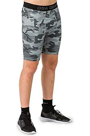 GSA Heren Camo Biker Panty Met Zijzak Yoga Shorts