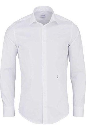 Seidensticker Zakelijk overhemd voor heren, slim fit, strijkvrij, smal overhemd met kent-kraag, lange mouwen, 100% katoen