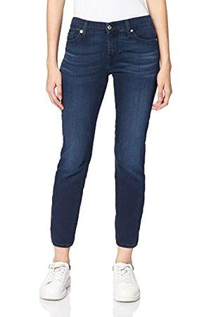 7 for all Mankind Dames Mid Rise Roxanne Crop Bair Park Avenue Slim Jeans