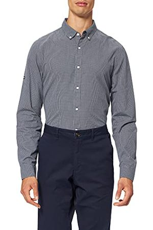Superdry Mens M4010341A Classic University Oxford, Micro Check Eclipse Navy, L
