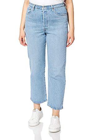 Levi's Womens Ribcage Straight Ankle Jeans, Tango Gossip, 24W / 29L