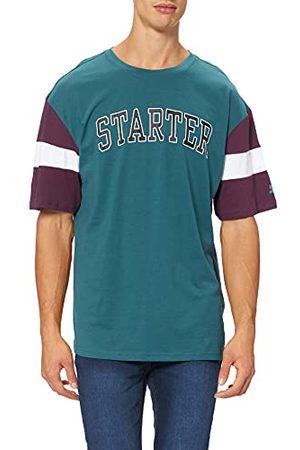 STARTER BLACK LABEL Heren Starter Throwback T-shirt, Teal/Donker / , L
