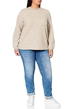 Street one T-shirt voor dames, Mocca Sand Melange, 40 NL