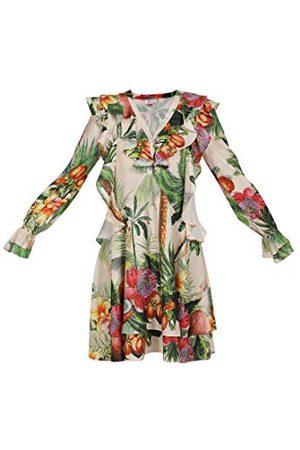 IZIA Dames 190949_Tropical Print_L_19007510 casual jurk, L