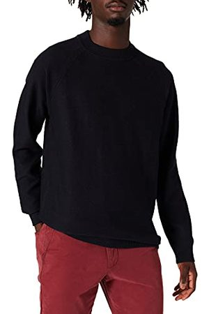 Scotch&Soda Heren Structure-Knitted Raglan Sleeve Contains Wool Pullover