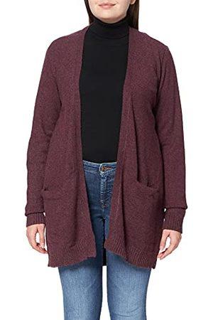 VILA CLOTHES VIRIL OPEN L/S KNIT CARDIGAN - NOOS gebreide jas, North Atlantic, normaal, Winetasting, XXL