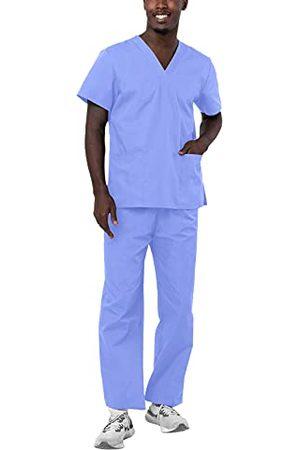 ADAR UNIFORMS Uniseks medische scrubs medische beroepskleding, Ceil Blue, XXS
