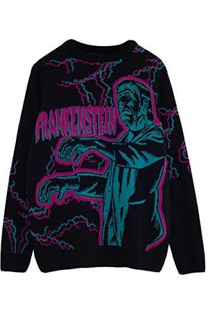 Popgear Universal Monsters Frankenstein Heren gebreide trui XL | Halloween Kerstmis Jumper Ugly Sweater Fair Isle Xmas Gift Ideas Mens Clothing