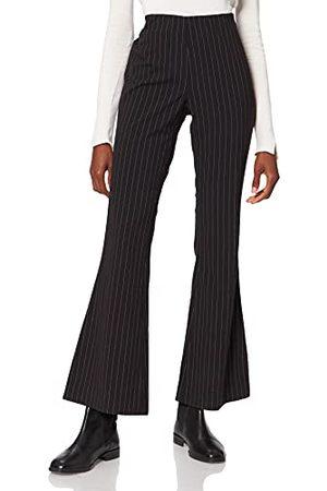 Urban classics Heren Dames Flared Pin Stripe Pants Broek, / , XS