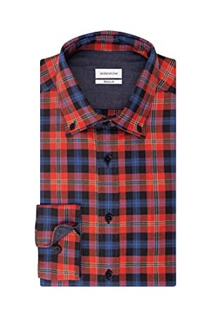 Seidensticker Heren regular fit lange mouwen twill overhemd