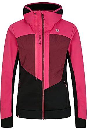 Ziener Dames Neta Softshell-/hybride jas Skitour | ademend, winddicht, functioneel