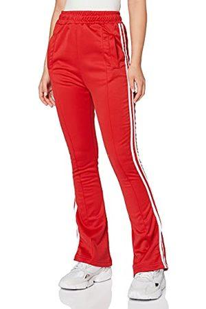 Unique 21 Dames Zijstreep Flare Leg TOURSER-RED Track Pants, 14 (Pack van 22)