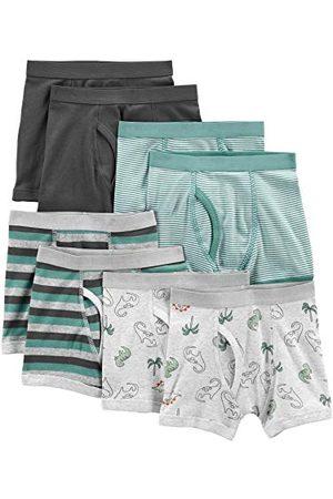 Simple Joys by Carter's Jongen 8-Pack Ondergoed Boxer Slips, Dinos/Stripes/ , 7 UK (Pack van 8)