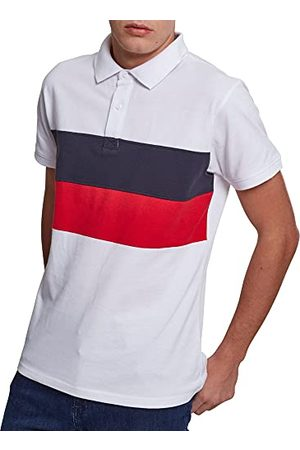 Urban classics Heren Color Block Panel Poloshirt Pullover