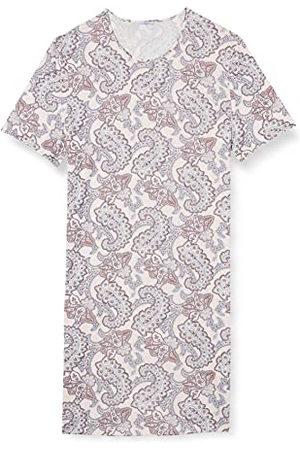 HUBER Dames slaapshirt korte mouwen nachthemd, Rose Paisley, 48
