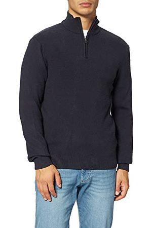 Casual Friday Karlo gebreide trui met halve rits voor heren.