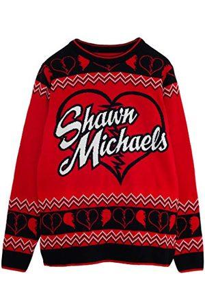 Popgear WWE Shawn Michaels Heren gebreide trui M | Wrestlemania Kerstmis Jumper Ugly Idee Sweater Xmas Gift For Men